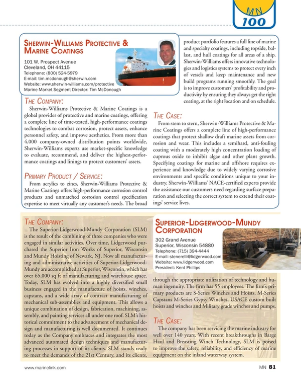 Marine News Magazine, page 81,  Aug 2016