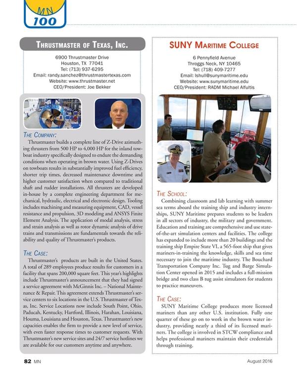 Marine News Magazine, page 82,  Aug 2016