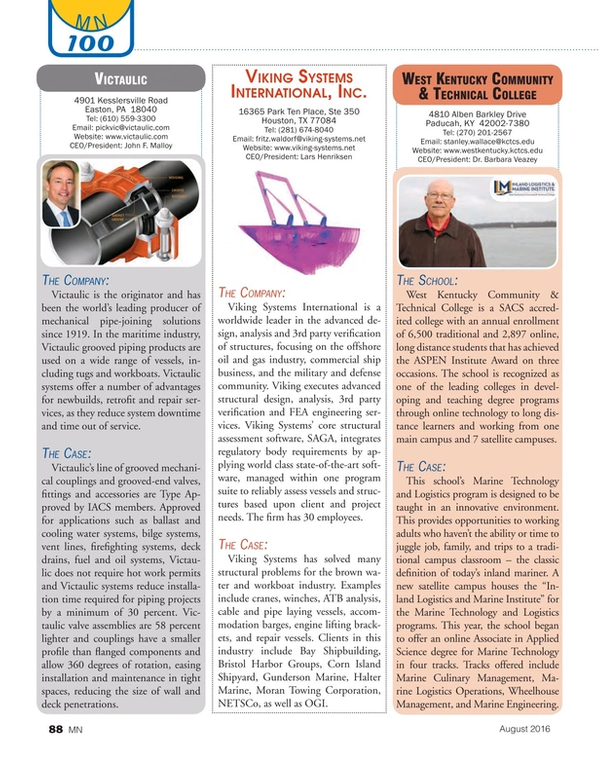 Marine News Magazine, page 88,  Aug 2016