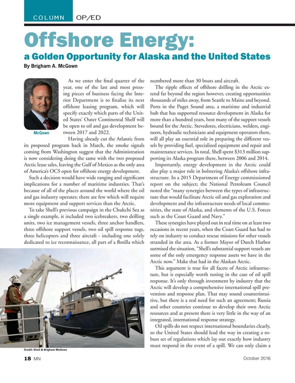 Marine News Magazine, page 18,  Oct 2016
