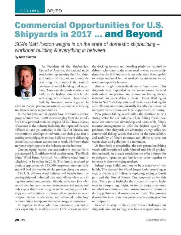 Marine News Magazine, page 20,  Dec 2016