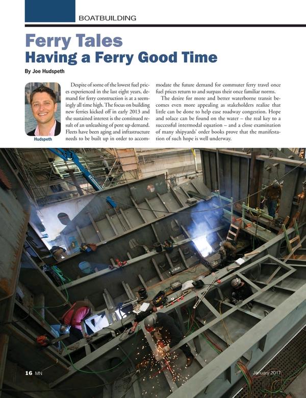 Marine News Magazine, page 16,  Jan 2017