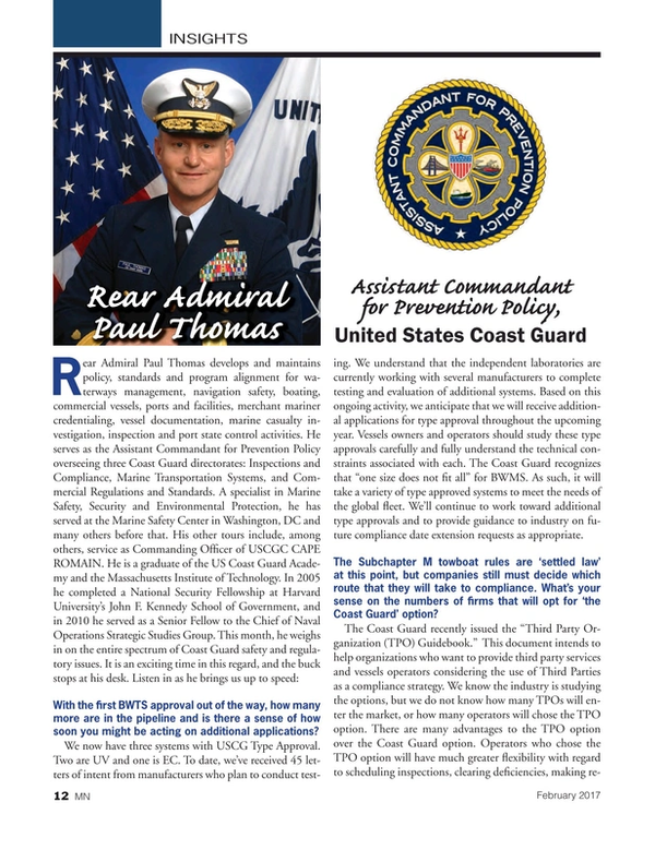 Marine News Magazine, page 12,  Feb 2017