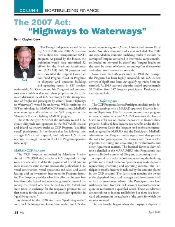 Marine News Magazine, page 18,  Apr 2017