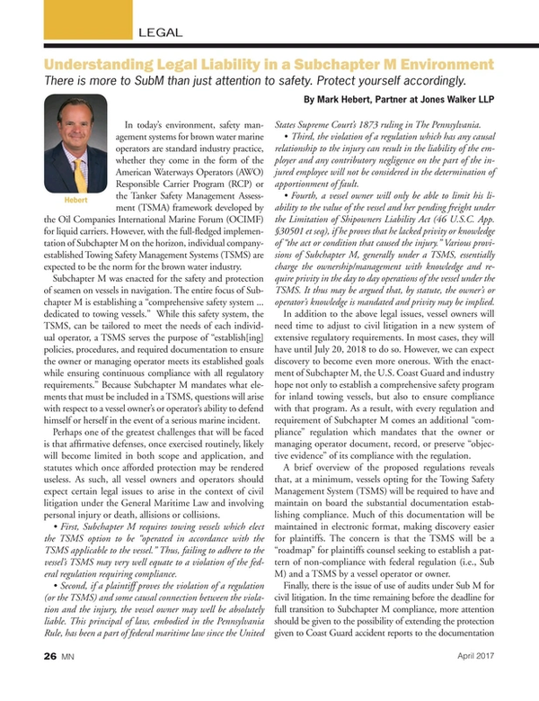 Marine News Magazine, page 26,  Apr 2017