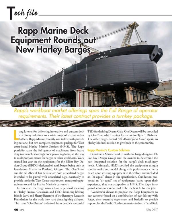 Marine News Magazine, page 40,  May 2017
