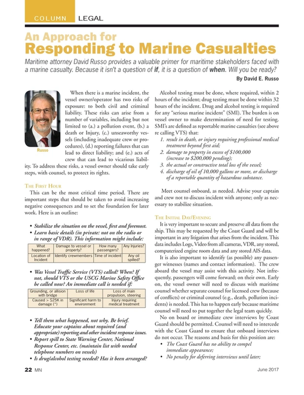 Marine News Magazine, page 22,  Jun 2017