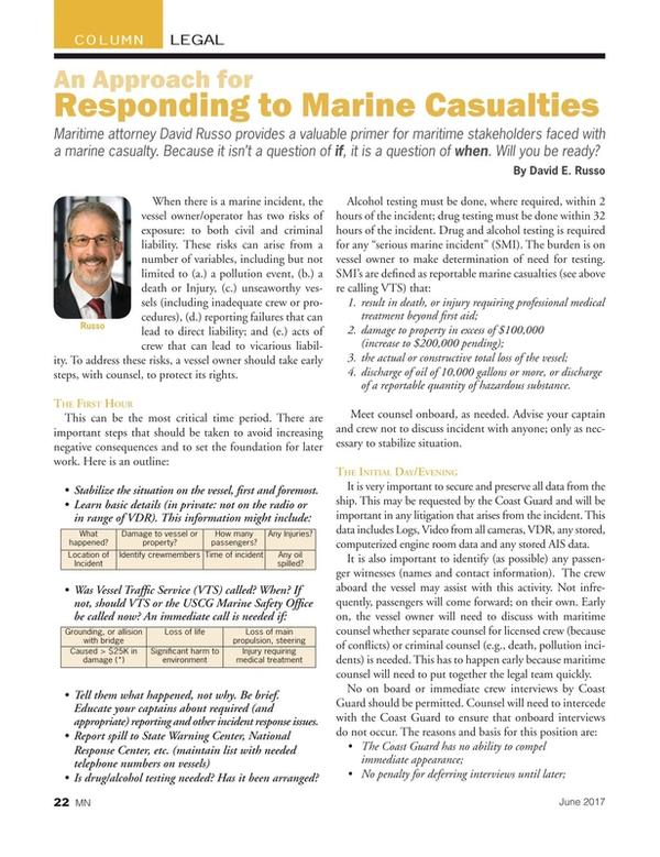 Marine News Magazine, page 22,  Jun 2017