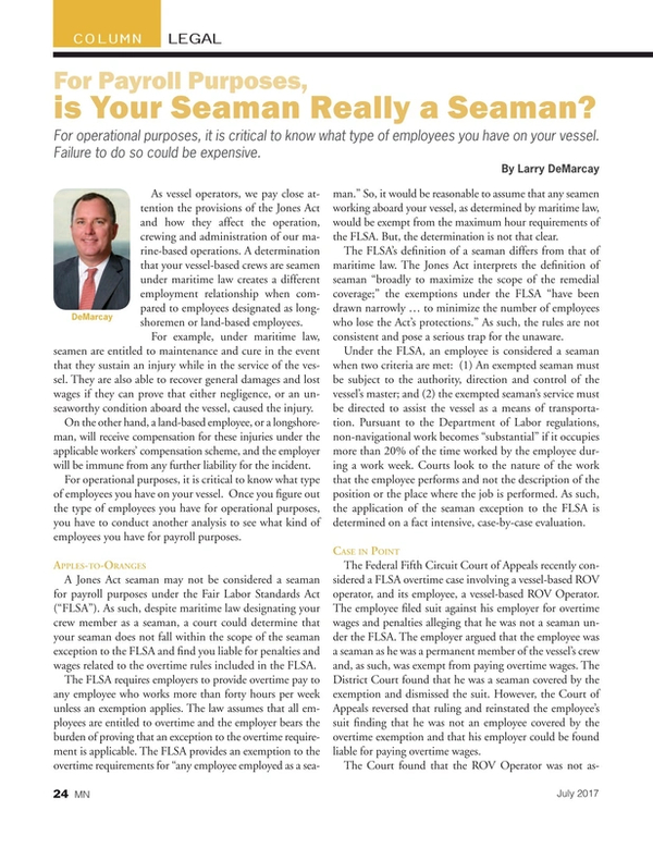 Marine News Magazine, page 24,  Jul 2017