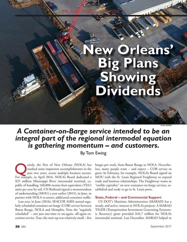 Marine News Magazine, page 36,  Sep 2017