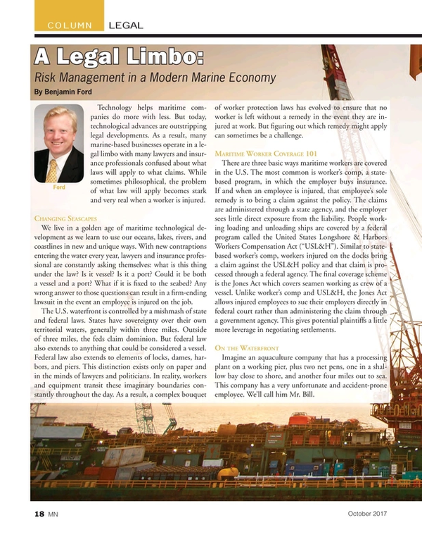 Marine News Magazine, page 18,  Oct 2017