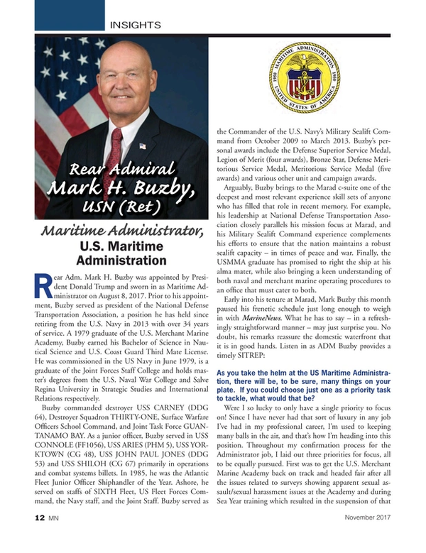 Marine News Magazine, page 12,  Nov 2017