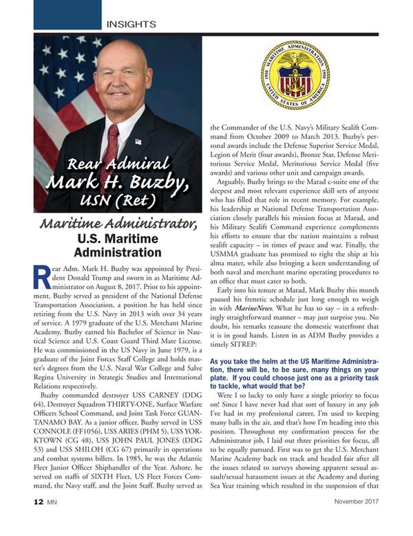 Marine News Magazine, page 12,  Nov 2017