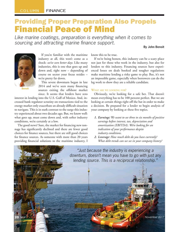 Marine News Magazine, page 20,  Nov 2017
