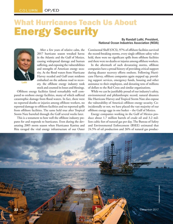 Marine News Magazine, page 22,  Dec 2017