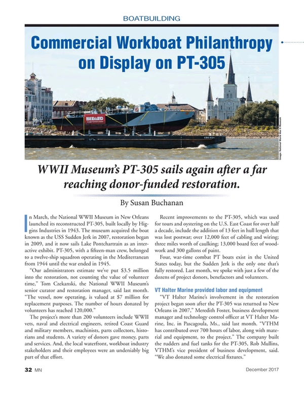 Marine News Magazine, page 32,  Dec 2017