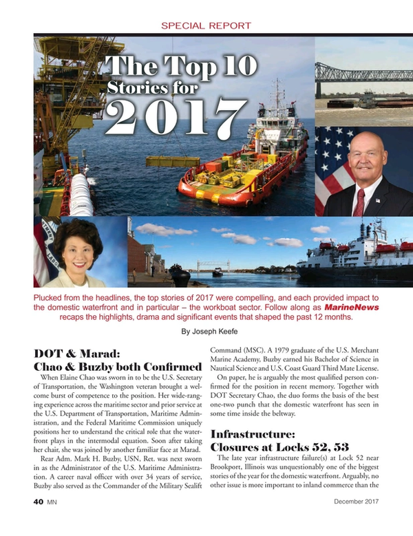 Marine News Magazine, page 40,  Dec 2017