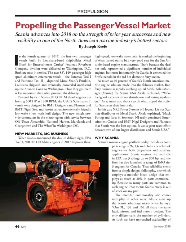 Marine News Magazine, page 46,  Jan 2018