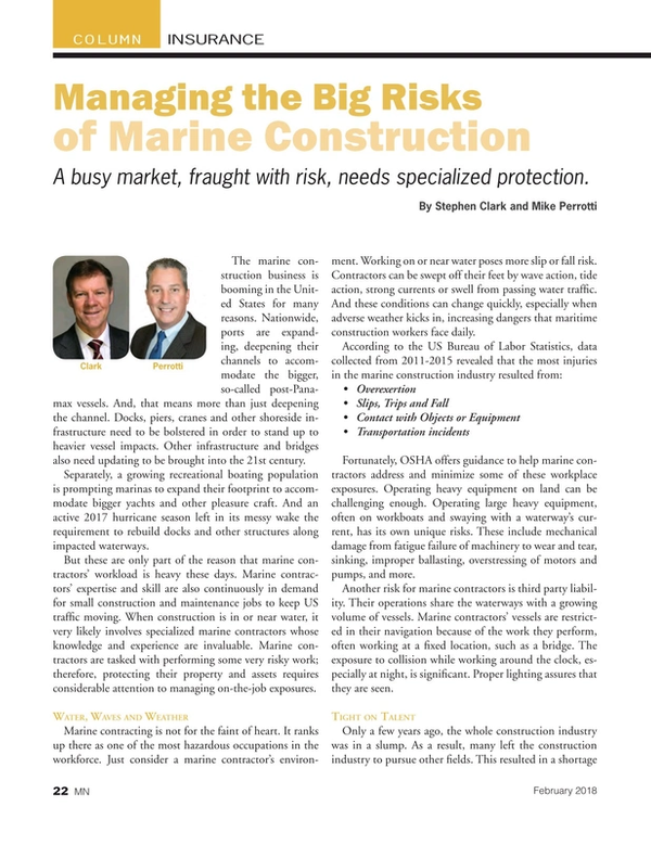Marine News Magazine, page 22,  Feb 2018