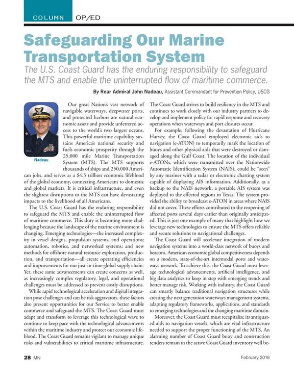 Marine News Magazine, page 28,  Feb 2018