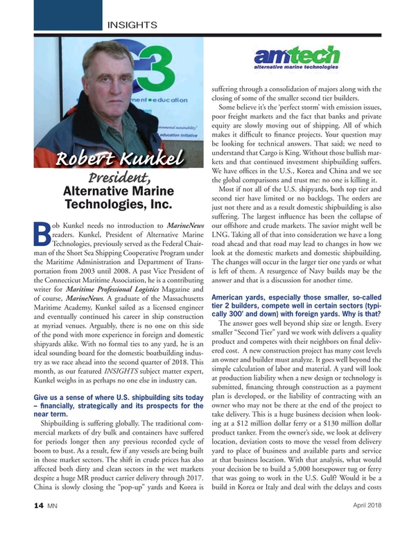 Marine News Magazine, page 14,  Apr 2018