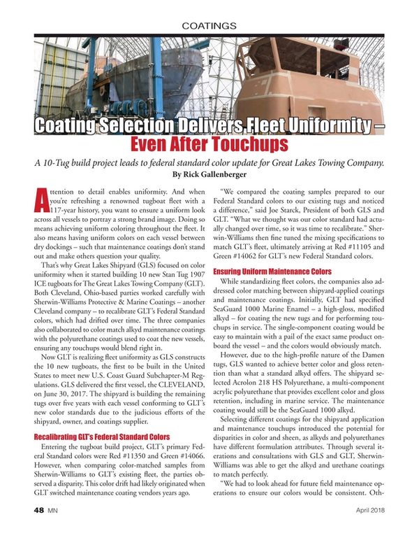 Marine News Magazine, page 48,  Apr 2018