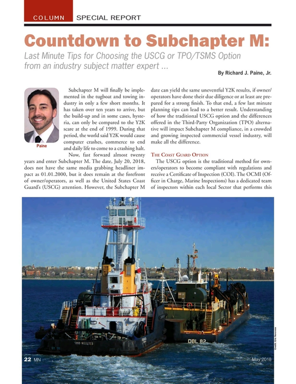 Marine News Magazine, page 22,  May 2018