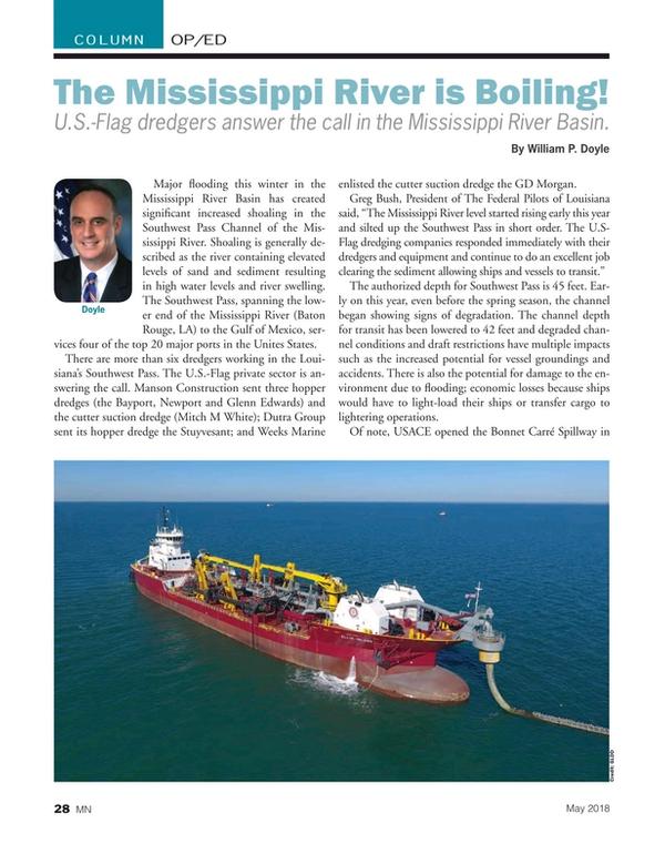 Marine News Magazine, page 28,  May 2018