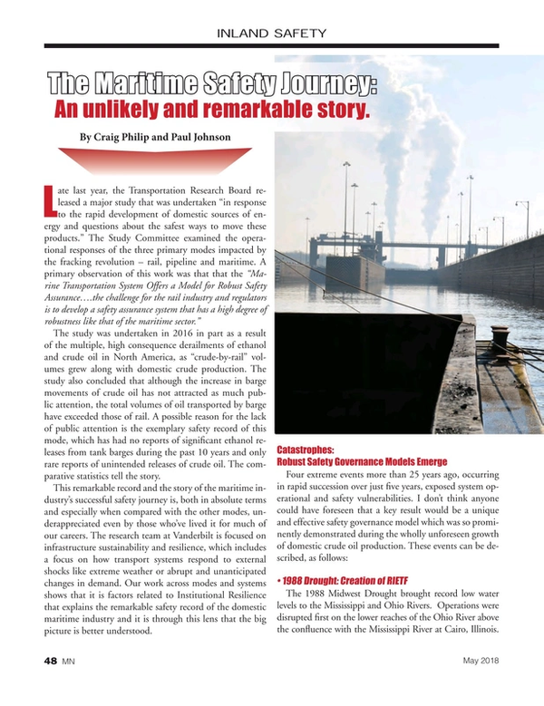 Marine News Magazine, page 48,  May 2018