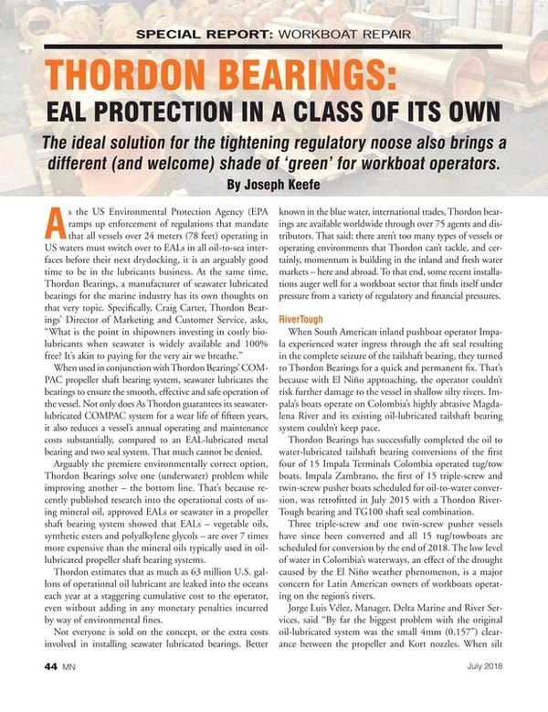 Marine News Magazine, page 44,  Jul 2018