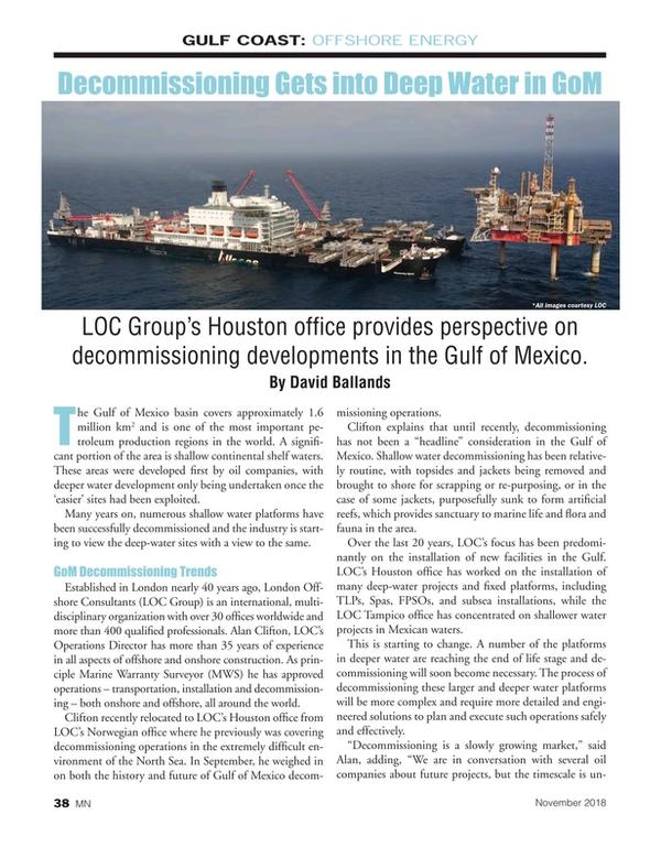 Marine News Magazine, page 38,  Nov 2018