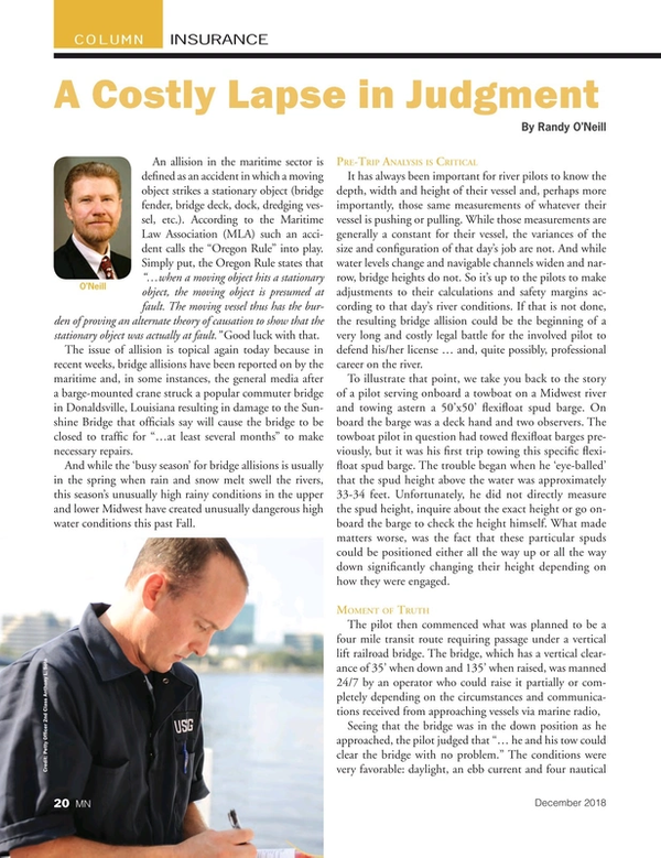 Marine News Magazine, page 20,  Dec 2018