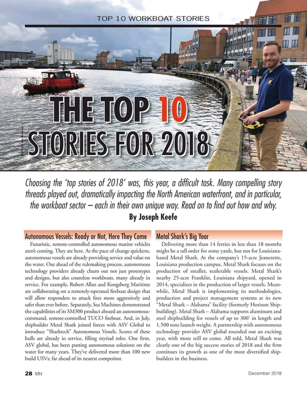 Marine News Magazine, page 28,  Dec 2018
