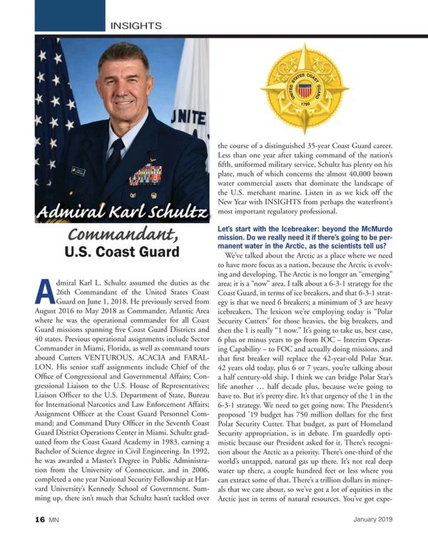 Marine News Magazine, page 16,  Jan 2019