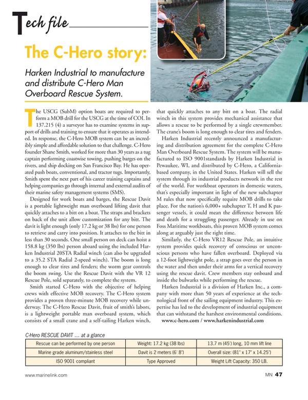 Marine News Magazine, page 47,  Jan 2019