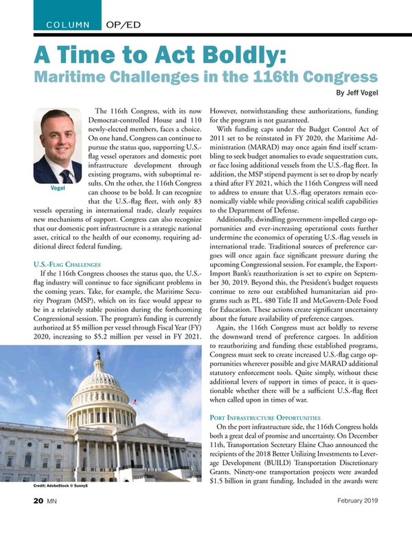 Marine News Magazine, page 20,  Feb 2019