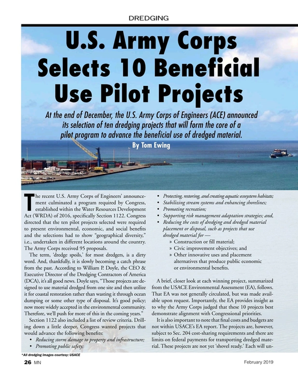 Marine News Magazine, page 26,  Feb 2019