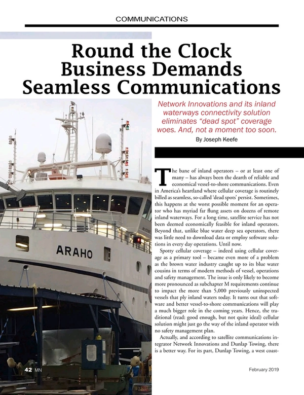 Marine News Magazine, page 42,  Feb 2019