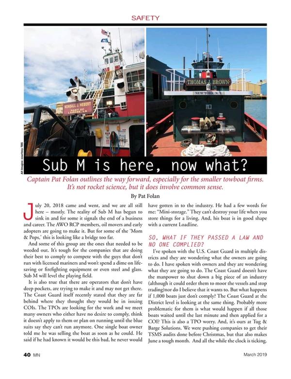 Marine News Magazine, page 40,  Mar 2019