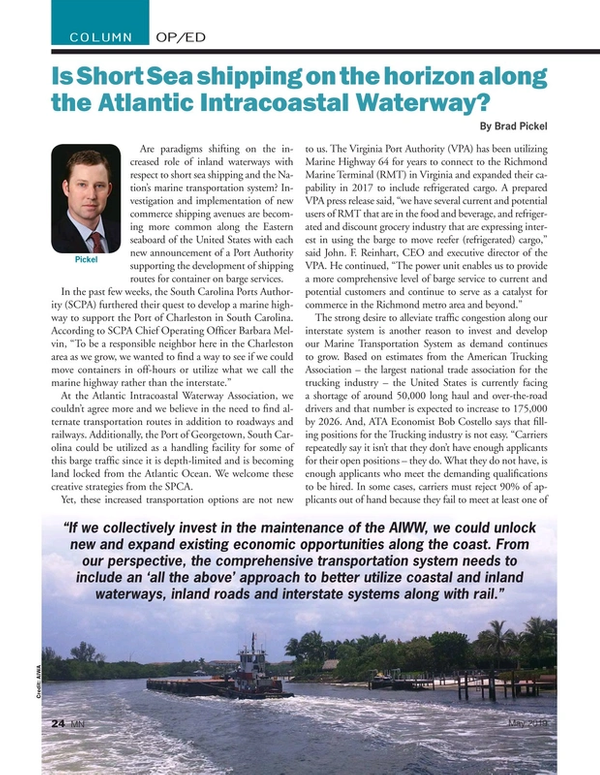 Marine News Magazine, page 24,  May 2019