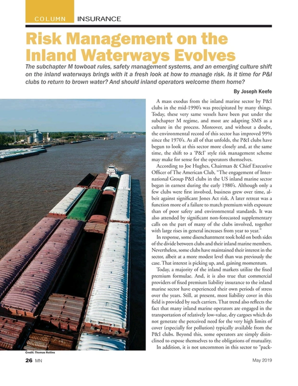 Marine News Magazine, page 26,  May 2019