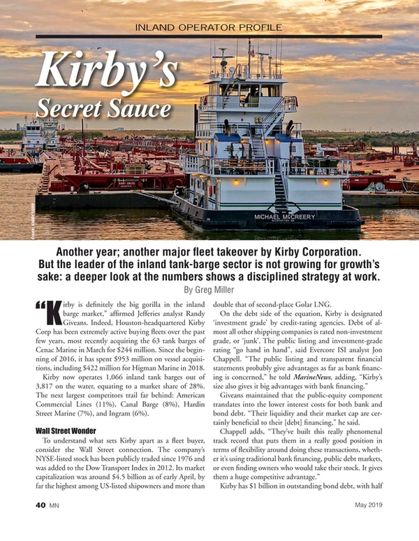 Marine News Magazine, page 40,  May 2019
