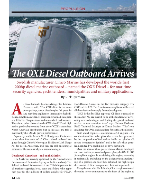 Marine News Magazine, page 24,  Jun 2019