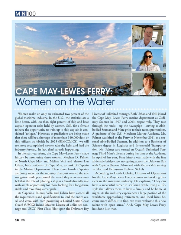Marine News Magazine, page 16,  Aug 2019