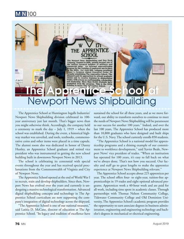 Marine News Magazine, page 76,  Aug 2019