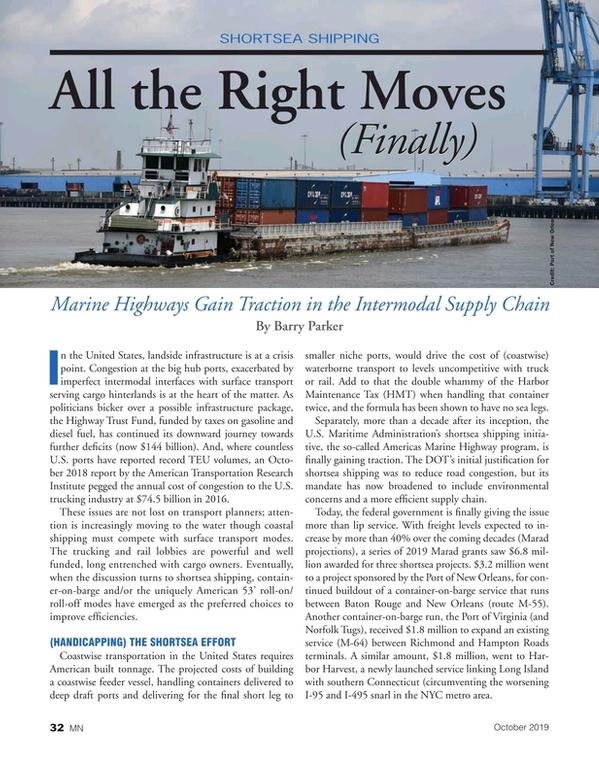 Marine News Magazine, page 32,  Oct 2019