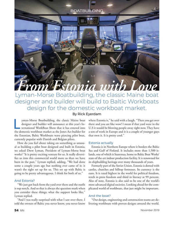 Marine News Magazine, page 54,  Nov 2019