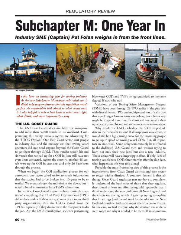 Marine News Magazine, page 60,  Nov 2019