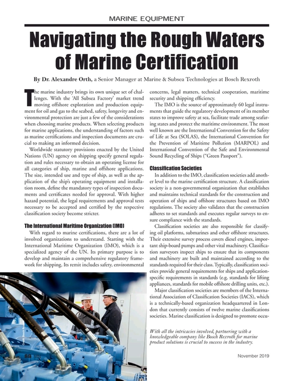Marine News Magazine, page 88,  Nov 2019