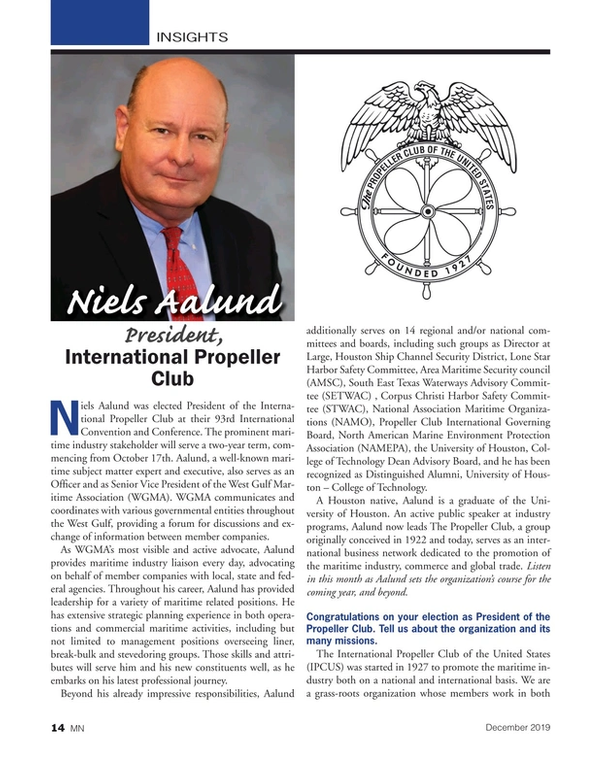 Marine News Magazine, page 14,  Dec 2019